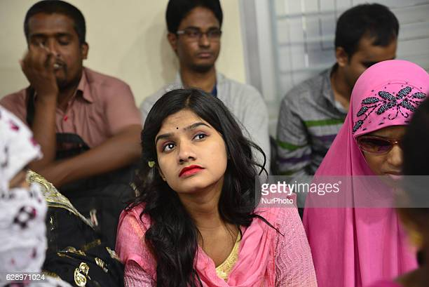 A group of Bangladeshi blind students are attending the conference and white stick distribution ceremony among the blind students to marks...