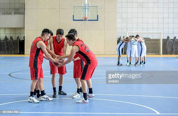 Group of basketball players