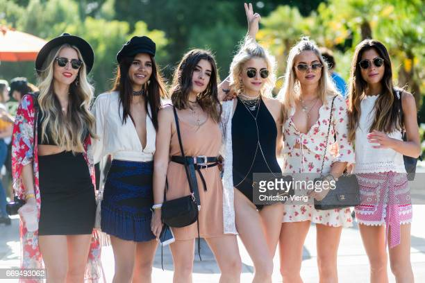 Group of bloggers during day 3 of the 2017 Coachella Valley Music Arts Festival Weekend 1 on April 16 2017 in Indio California