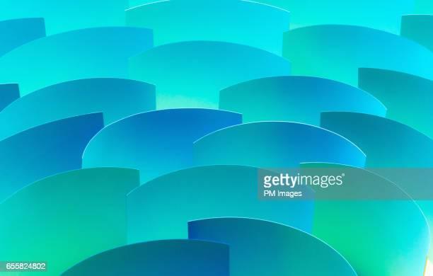 group of blue paper sheets, close up - azul turquesa - fotografias e filmes do acervo