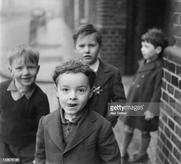 A group of boys from the area of London traditionally associated with Cockneys circa 1954 A Cockney should be born within the sound of the Bow Bells...