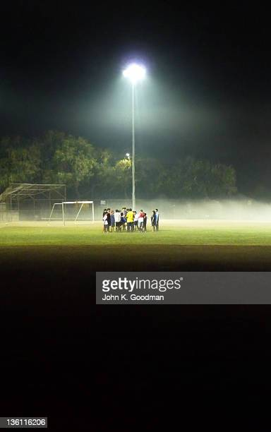 Group of boys in football pitch