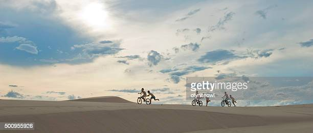Group of Boys Playing at the Sand Hills at Ninh Phuroc