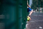 samara russia group boys plays football