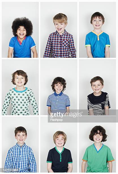 Group of boys smiling