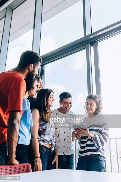Group of Brazilian students