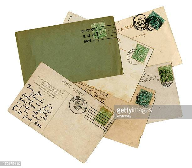 group of british edwardian postal history - old glasgow stock pictures, royalty-free photos & images