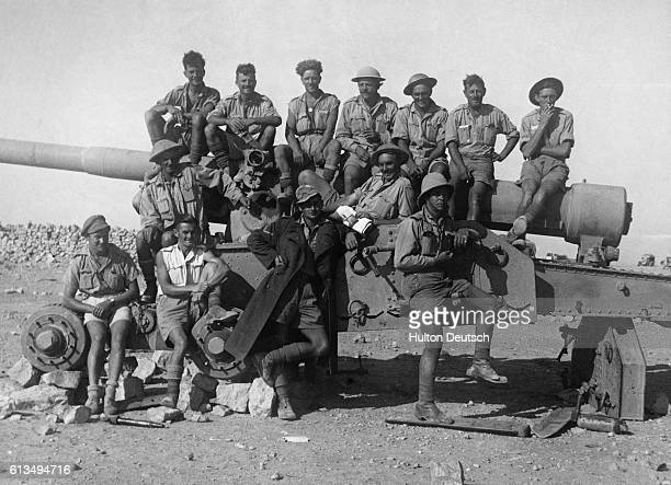 A group of British soliders in Libya before the fall of Tobruk The port was fiercely contested by the British and Germans being first seized by...