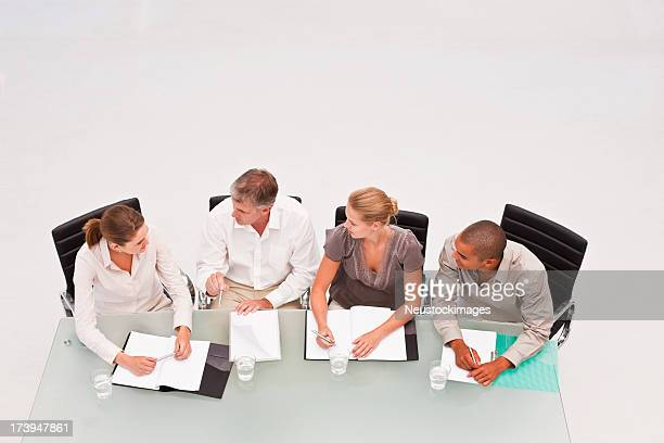 Group of business colleagues at a meeting