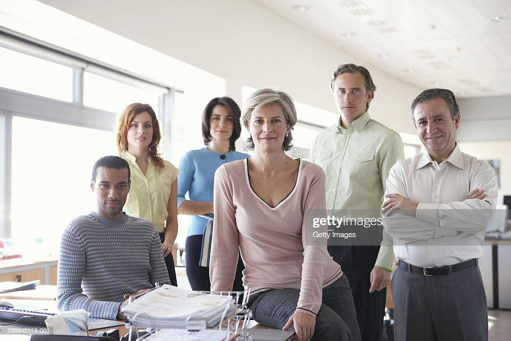 Group of business colleagues in office, portrait : Stock Photo