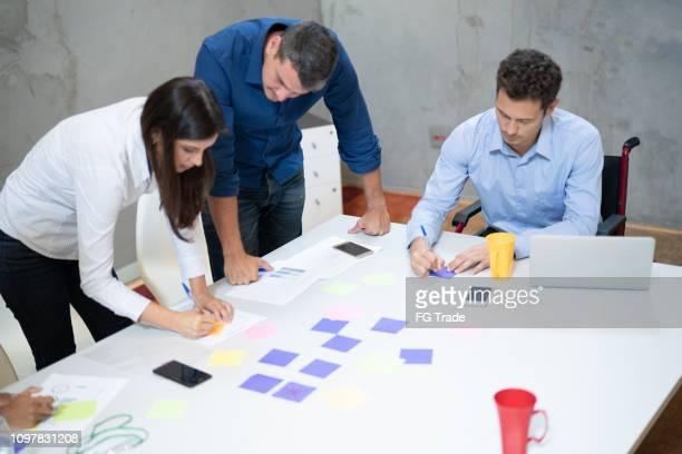 Group of business people during business meeting