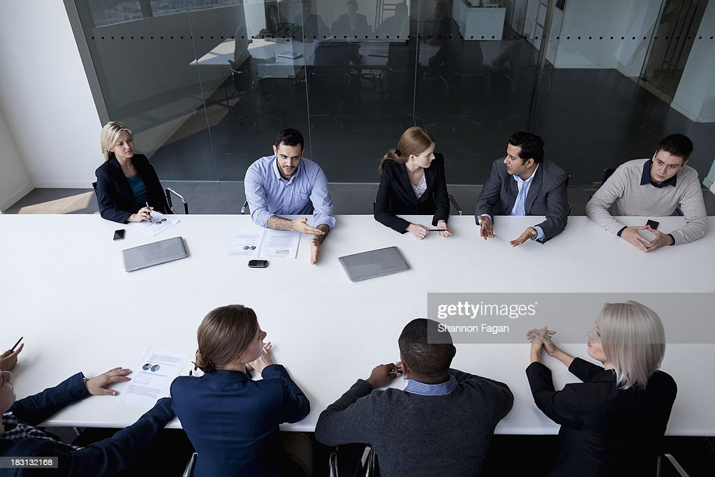 Group of business people having a business meeting : Stock Photo