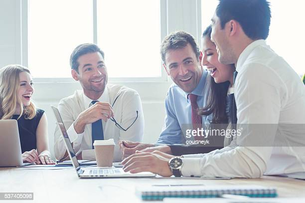 Group of business people having a meeting.