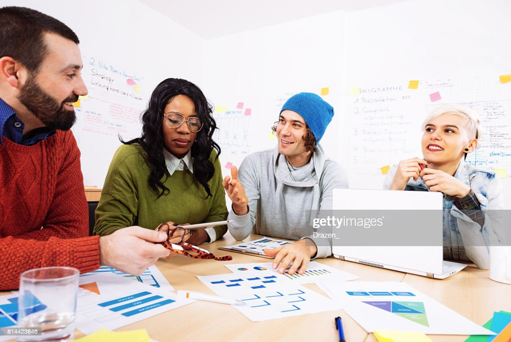 Group Of Business People In Office Developing Startup Business Ideas