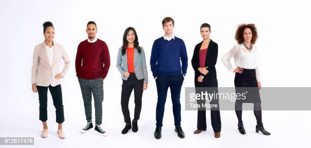 group of business people in studio - stare in piedi foto e immagini stock