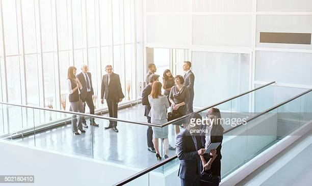 Group of business people in the office building