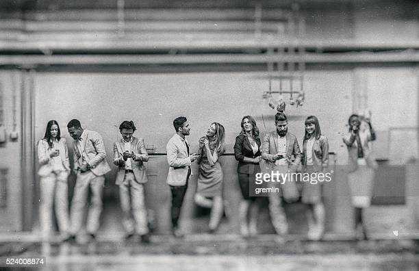 group of business people making selfies - clique stock photos and pictures