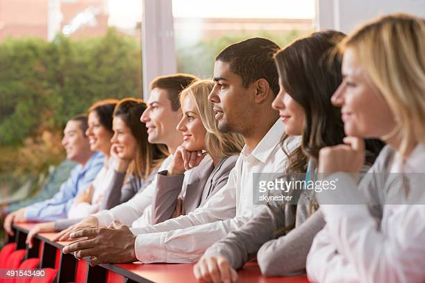 Group of business people on a conference.