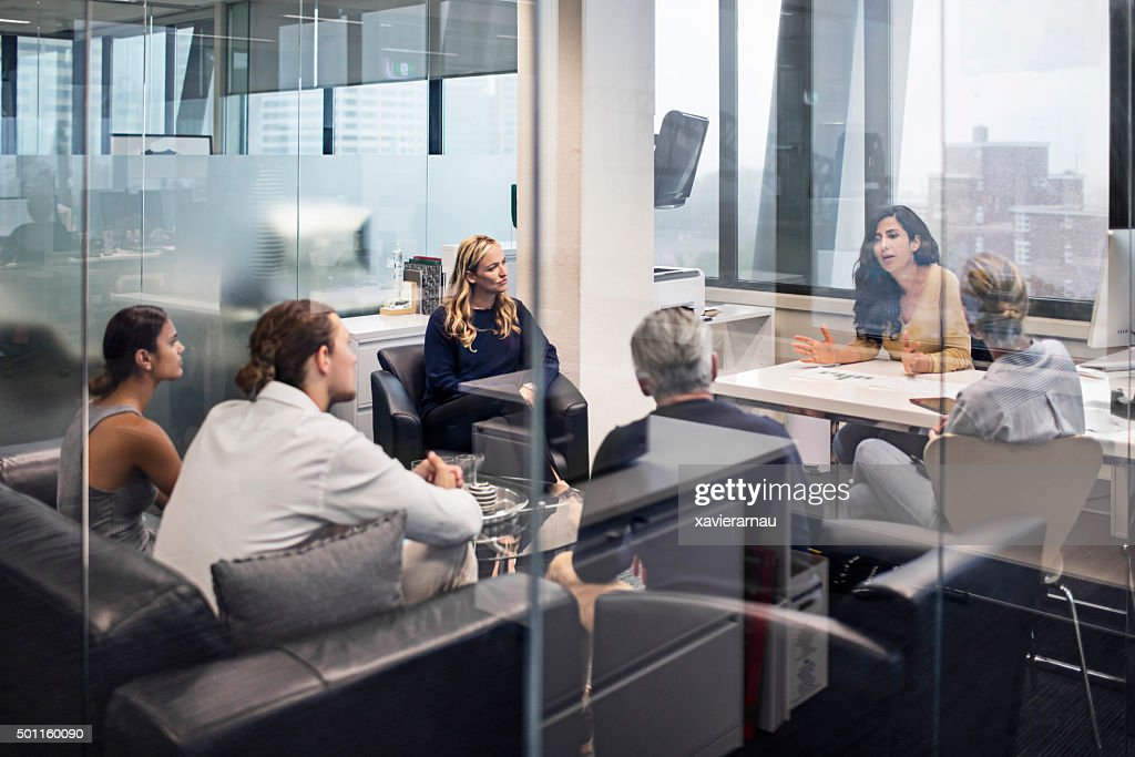Group of business people on a meeting : Stock Photo