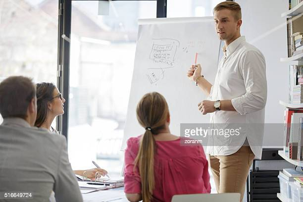 Group of business people on a meeting