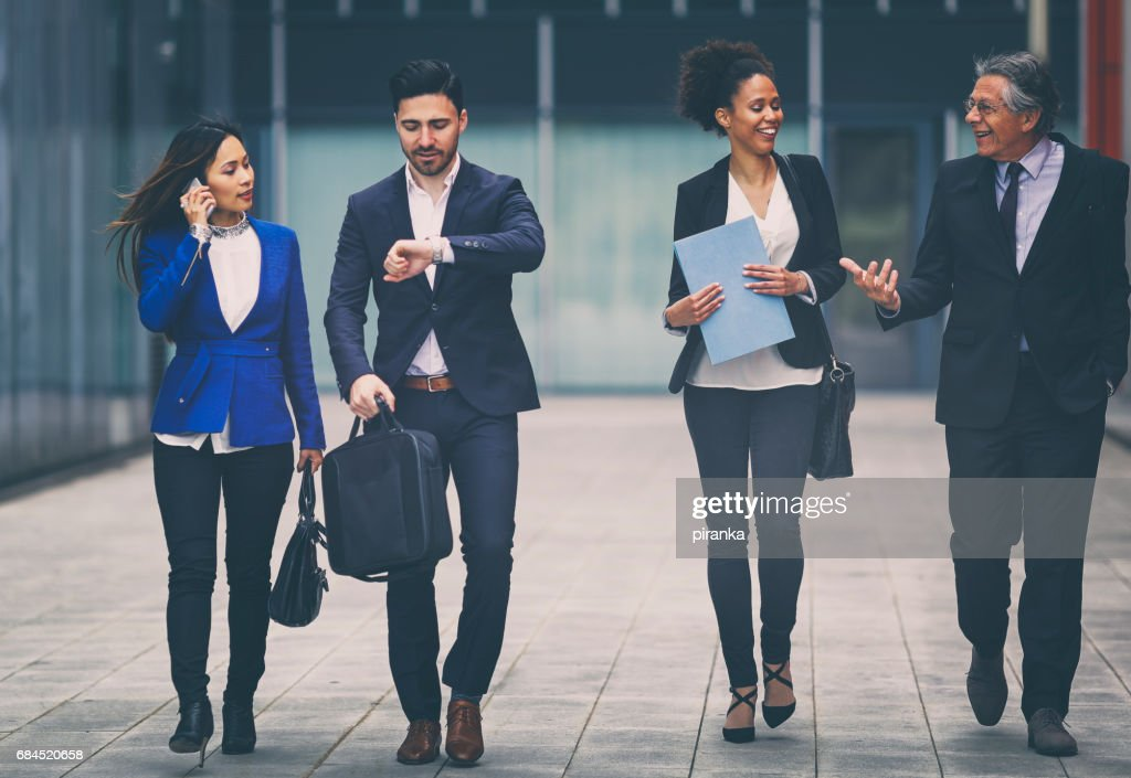 Group of business people outdoors : Stock Photo