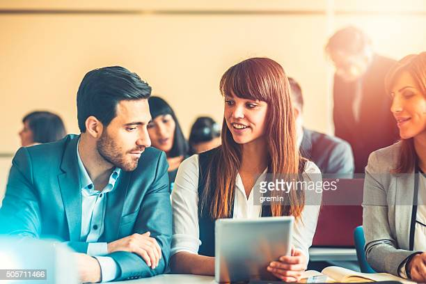 Gruppe des business Personen, ein seminar, Bildung