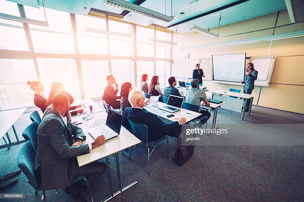 Group of business people, seminar, office, education : Stock Photo