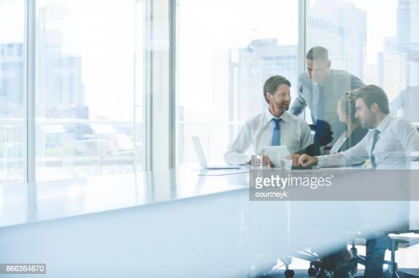 Gruppe von Unternehmen Menschen arbeiten.
