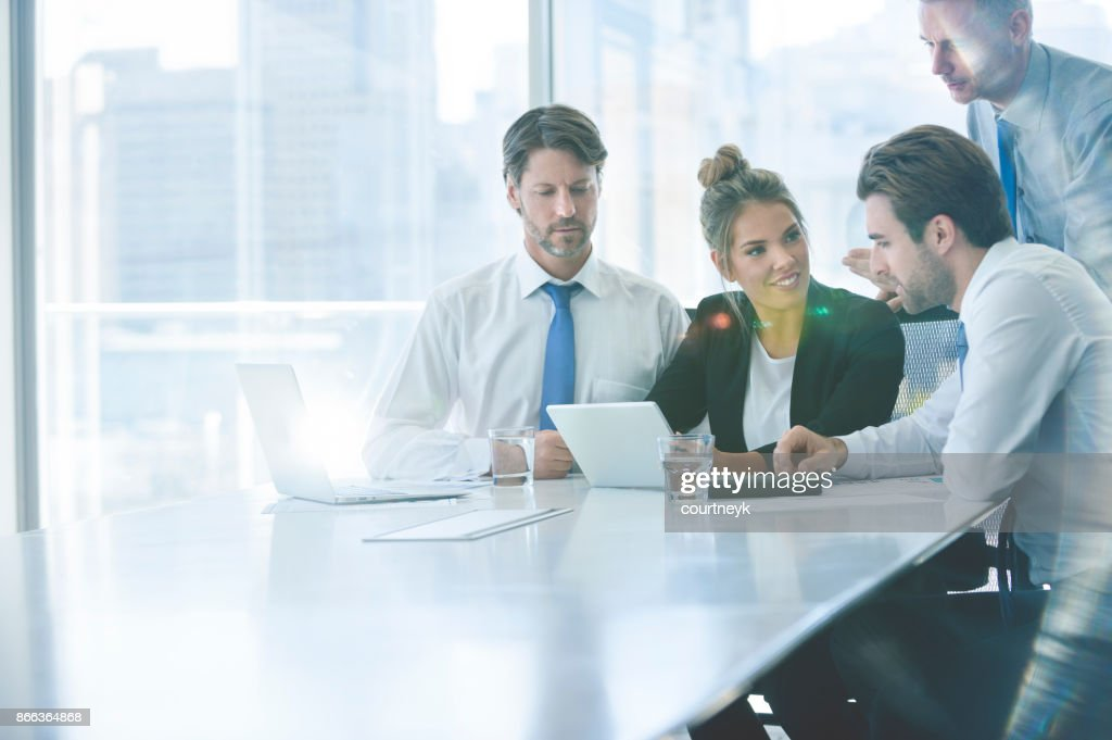 Group of business people working. : Stock Photo