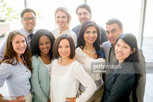 Group of Business Professionals Standing Together