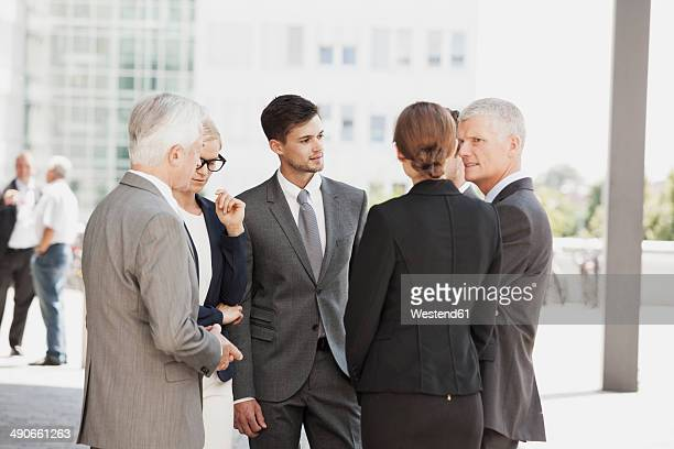 Group of businesspeople discussing