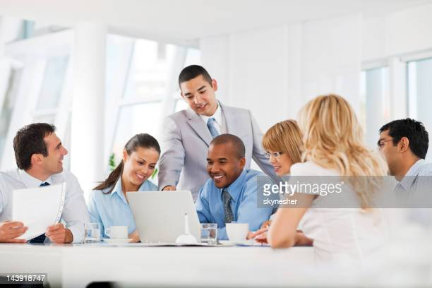 Group of businesspeople having a meeting.