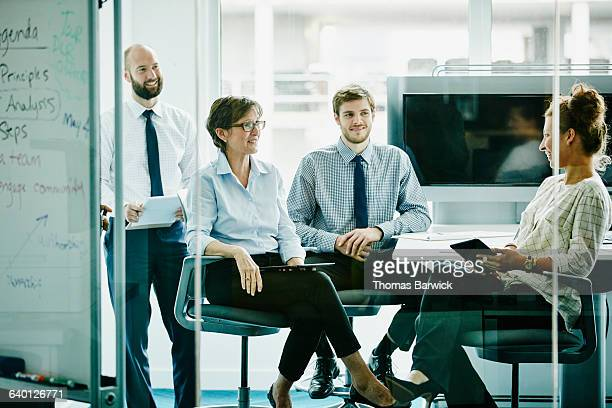Group of businesspeople in meeting in office