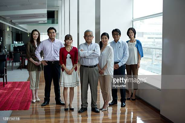 group of businesspeople in office - 数人 ストックフォトと画像