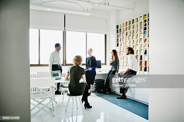 Group of businesspeople in project meeting