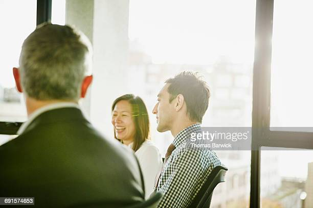 Group of businesspeople in team meeting