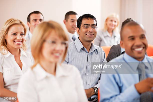 Group of businesspeople on a seminar.