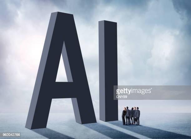 group of businesspeople standing in shadow of ai - morality stock pictures, royalty-free photos & images