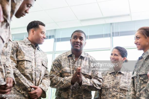 group of cadets listen to officer - army stock pictures, royalty-free photos & images