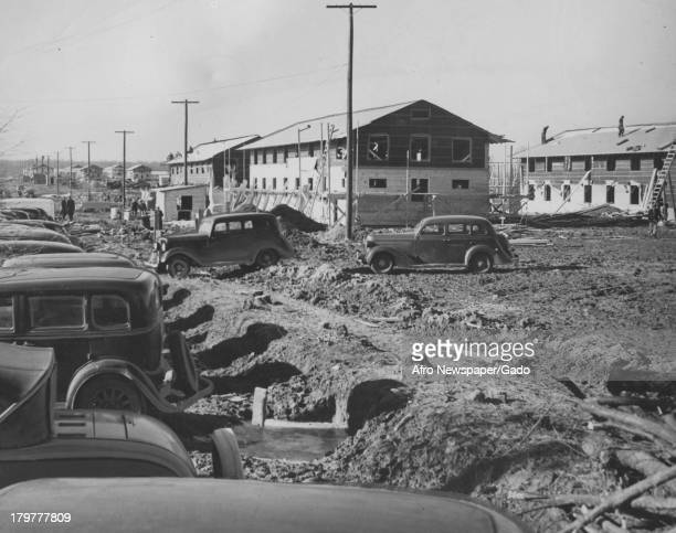 A group of cars at the Aberdeen Proving Grounds Aberdeen Maryland February 15 1941