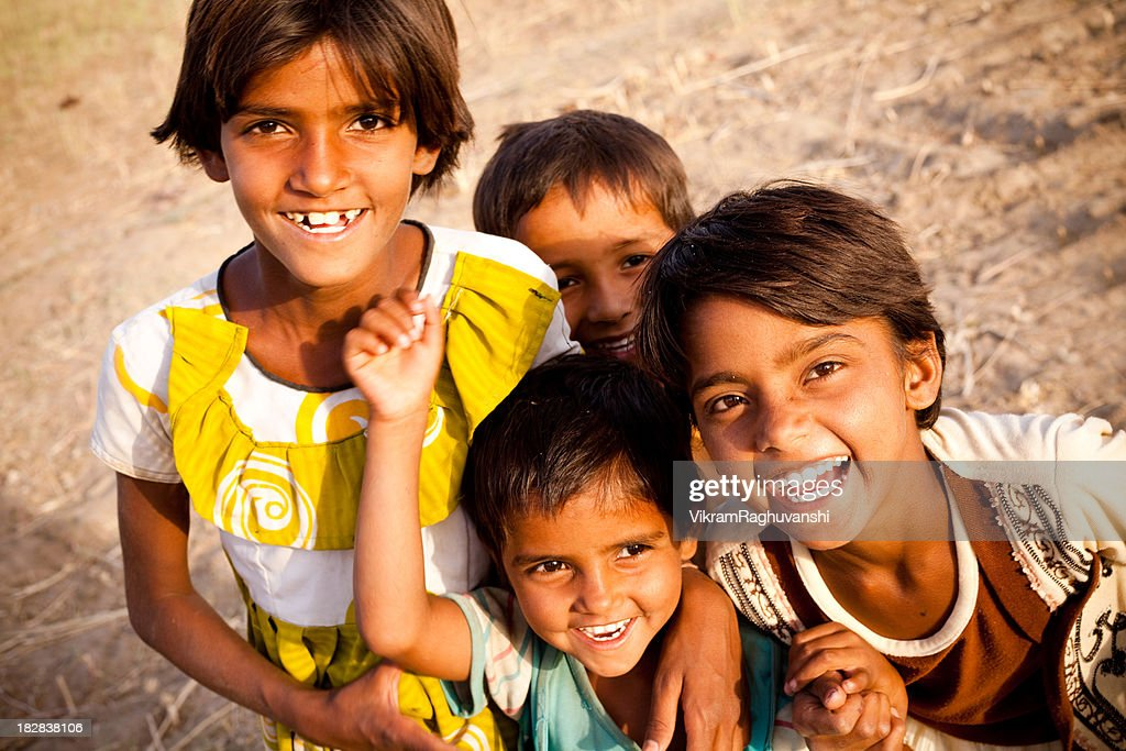 Image result for poor indian kids smiling