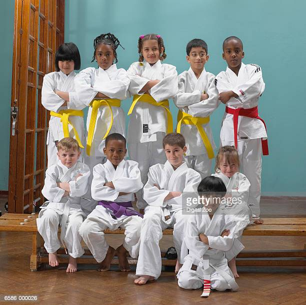 Group of Child Judoists