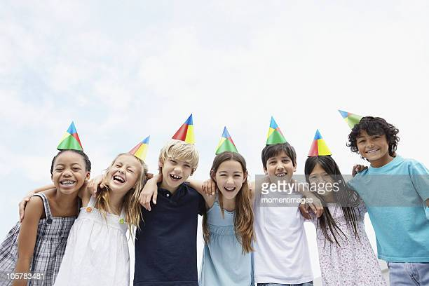 Group of children at a birthday celebration