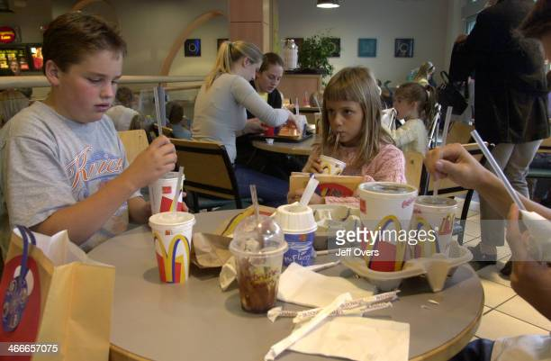 Group of children at McDonalds