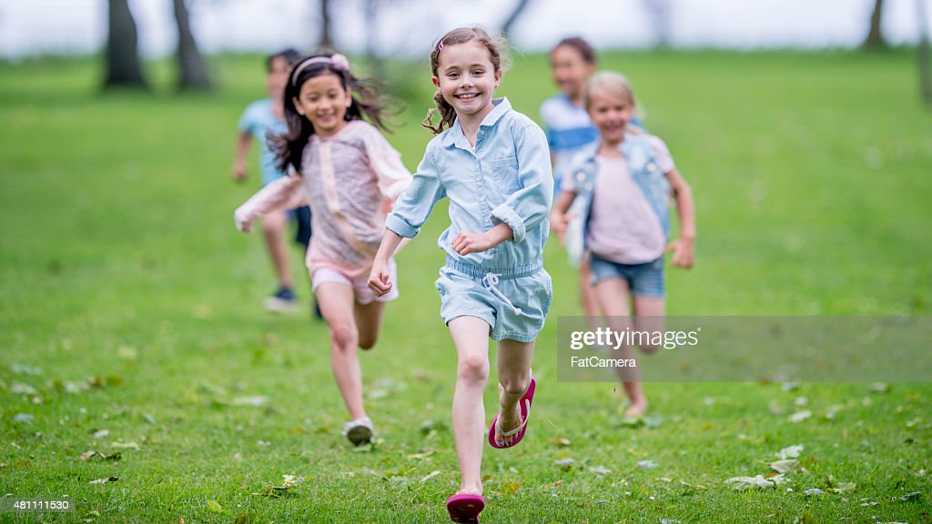 Group of Children at the Park : Stock Photo