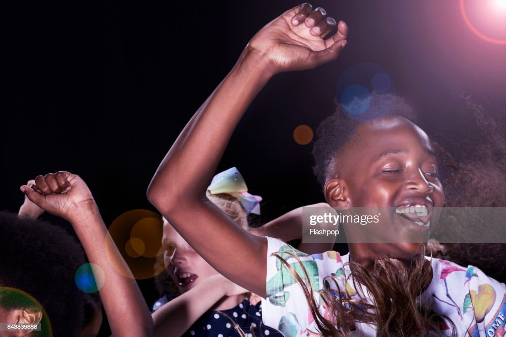 Group of children having fun at a party : Stock-Foto