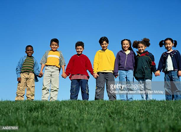 Group of Children Holding Hands