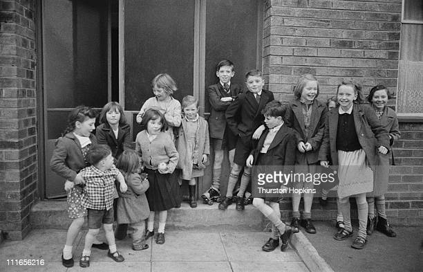 A group of children in a slum area of Liverpool 19th November 1956 Original publication Picture Post 8995 Liverpool Slums unpub
