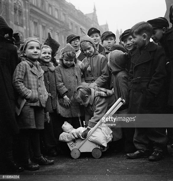 A group of children in Dresden Germany where chaotic destruction was wrought by Allied air bombings This is one of the first photos to come out of...
