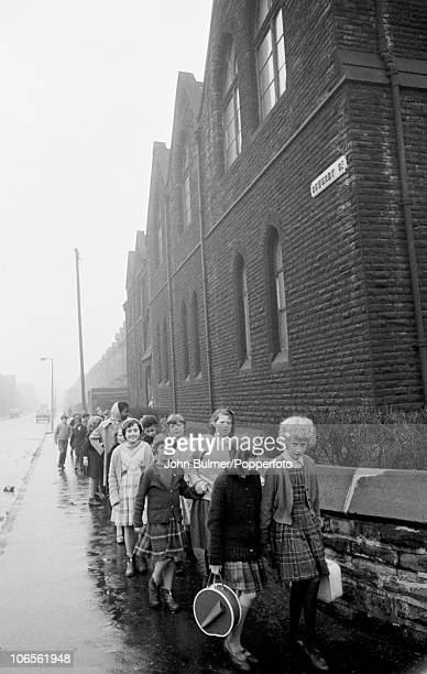 A group of children in Sewerby Street Moss Side Manchester in 1963
